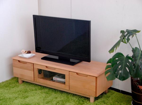 テレビ台 天然木 完成品 おしゃれなデザイン ローボード TVボード 幅120cm ナチュラル シンプル 収納 木製 北欧 ERIS 送料無料 IK008