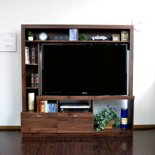 ポイント5倍!期間限定 テレビ台 ハイタイプ 壁面家具 リビング壁面収納 55インチ対応 TV台 テレビラック ゲート型AVボード 165cm幅 J-Supply Ltd.(ジェイサプライ) PD015