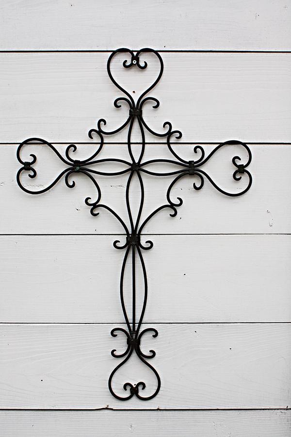 アメリカ ワイヤー 十字架 壁用オーナメント 壁飾り 鉄製