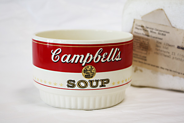 1970s Campbells  Soup Bowl キャンベル スープ カップ スープボール:DESK DEPOT (UNION MADE)