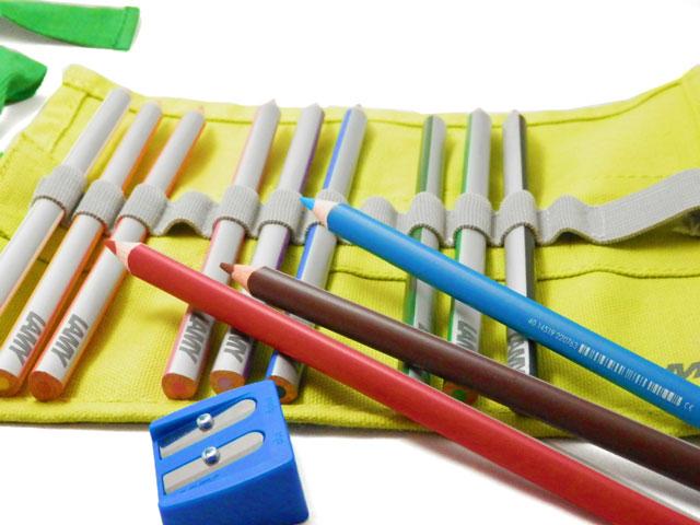 あす楽 珍しいラミーのロールペンケース入り色鉛筆 日本全国 送料無料 日本未発売 ギフト子供 LAMY 色鉛筆 ラミー プラス リボン 12色セット かわいい ギフト プレゼント plus 記念日 ロールペンケース入り