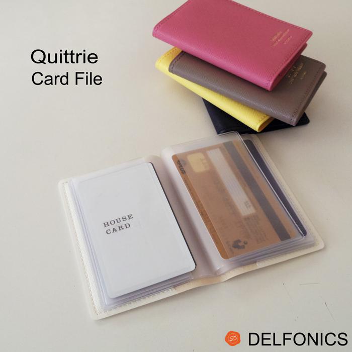 持ち運びに便利なコンパクトサイズのカードファイル レディース スリム たくさん入る キトリ カードファイル S デルフォニックス 評判 Quitterie DELFONICS かわいい 大人 あす楽 ポイントカード 女性 クレジットカード 返品交換不可 名刺 コンパクト ネコポス対応