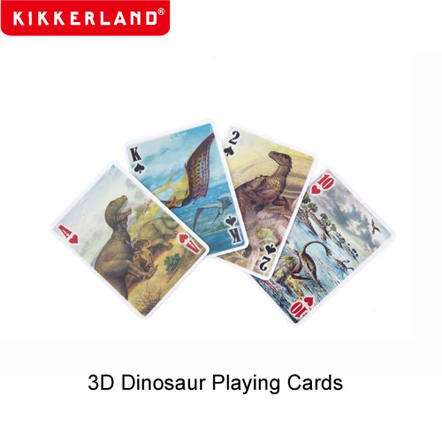 3Dのリアルな恐竜が描かれたトランプカード ネコポスOK Kikkerland プレイングカード ダイナソー キッカーランド トランプ 恐竜 3D あす楽 男の子 立体 プレゼント Dinosaur ネコポス対応 限定特価 Playing Cards 25%OFF