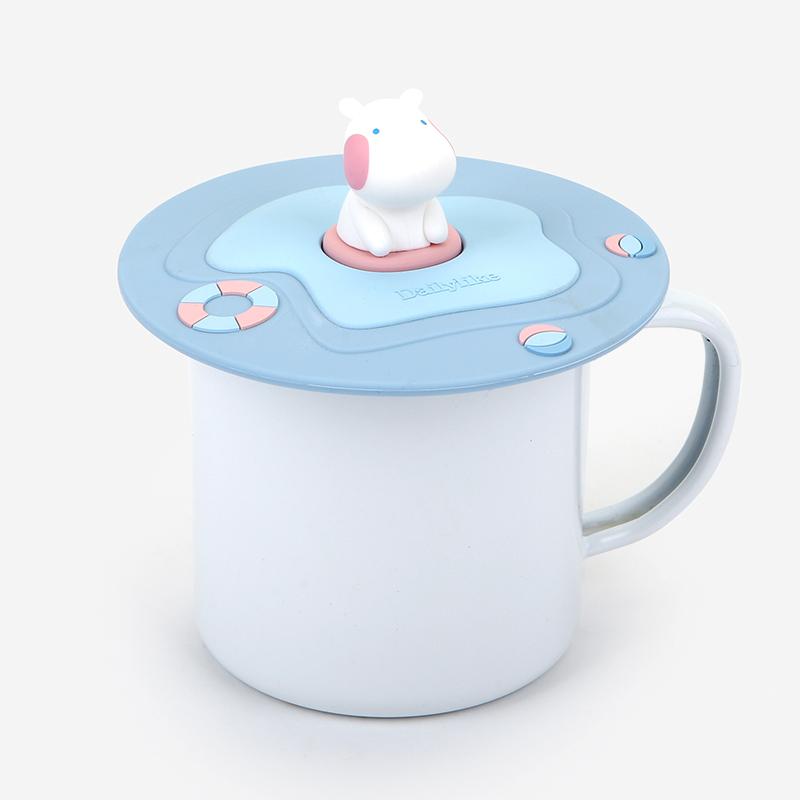 送料無料◆カップカバー Silicone mug lid 02 Swimming hippo/デイリーライク Dailylike かわいい おしゃれ マグカップカバー コップカバー コップのふた コップの蓋 シリコン 110×32mm スイミングヒッポ カバ グッズ 動物 ブランド
