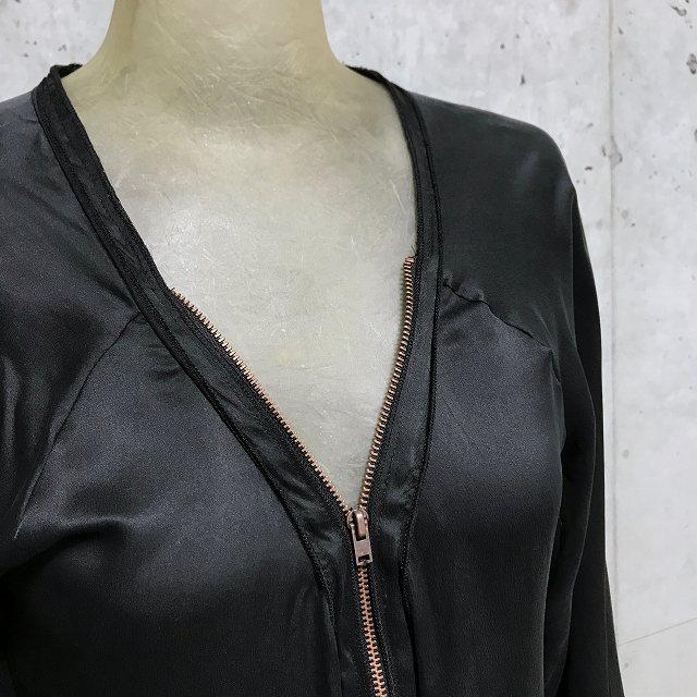 BRAEZ ブレイズシルク サテン ファスナー オープンネック ワンピース【select-shop】【セレクトショップ】【レディースファッション 30代 40代 50代】