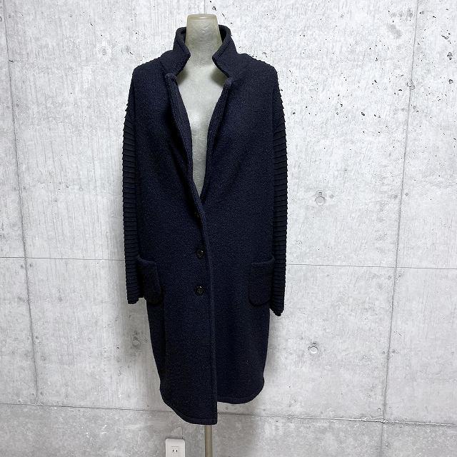 tricoh chucパネルフリルスリーブ 切り替え ウールコート【select-shop】【セレクトショップ】【レディースファッション 30代 40代 50代】