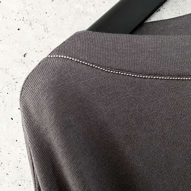PUPULA ププラボールチェーン 毎日激安特売で 営業中です 誕生日プレゼント ドロップショルダー ボートネック ニットソー セレクトショップ select レディースファッション 50代 40代 30代