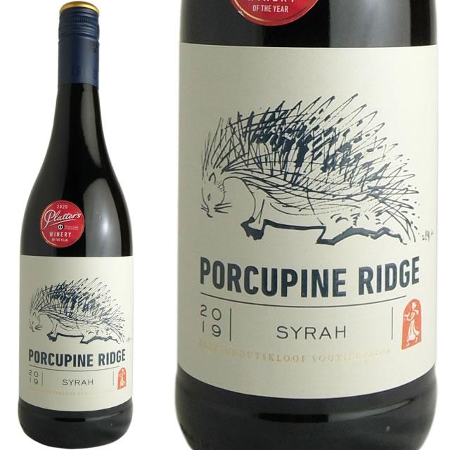 はりねずみのラベルが可愛らしい スパイシーでパワフルな コストパフォーマンスたっぷりの南アフリカ産辛口赤ワイン ポークパインリッジ クルーフ ブーケンハーツ 新品未使用 卓越 シラー 2019