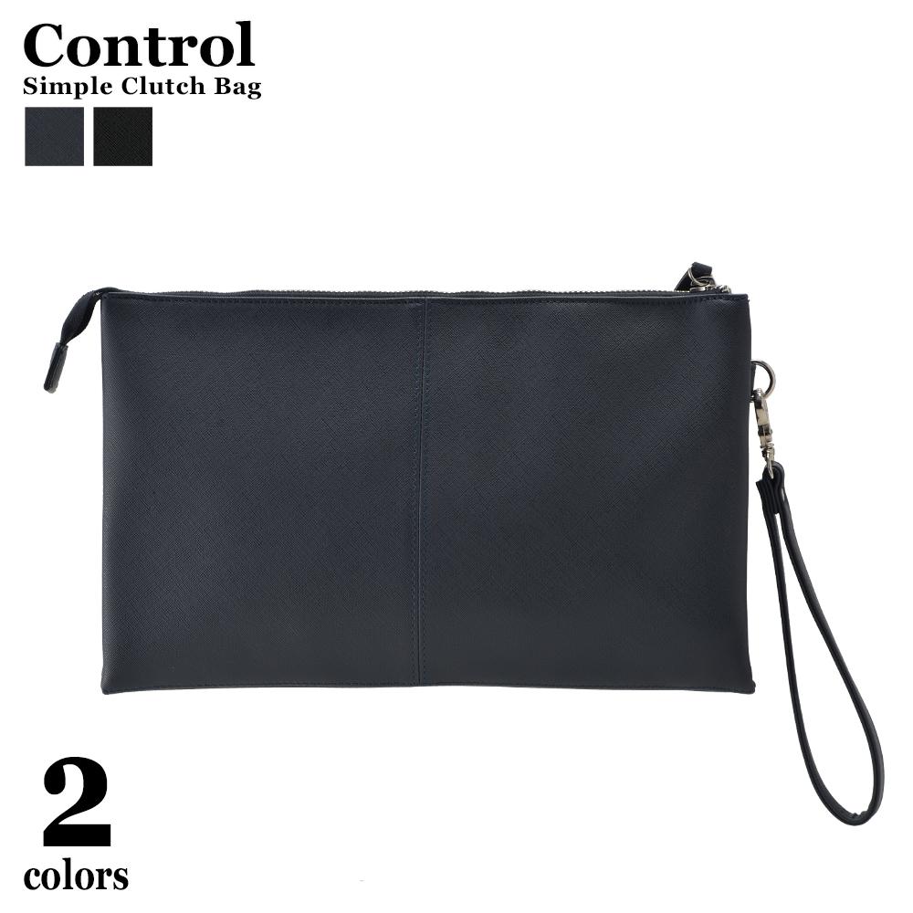 Device Clutch Bag Handbag Men Fake Leather Shin Pull Plain Fabric