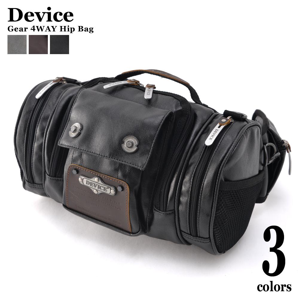 【送料無料】DEVICE gear 4way ヒップバッグ カメラバッグ リュックサック ウエストバッグ アウトドア バッグ ミリタリーバッグ ボストンバッグ レディース リュック ドラム型 デバイス ブランド