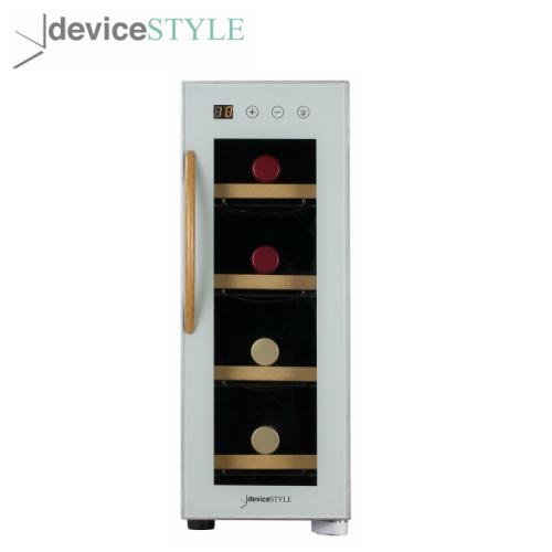 デバイスタイル deviceSTYLEペルチェ式ワインセラー 4本収納用CE-4W-W家庭用小型 送料無料 コンパクトタイプホワイト 贈与 市場