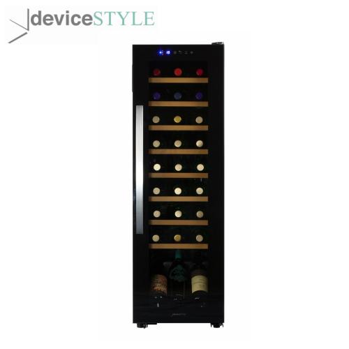 デバイスタイル deviceSTYLEコンプレッサー式ワインセラー 27本収納用WE-C27W家庭用 薄型 スリムタイプブラック【送料無料】
