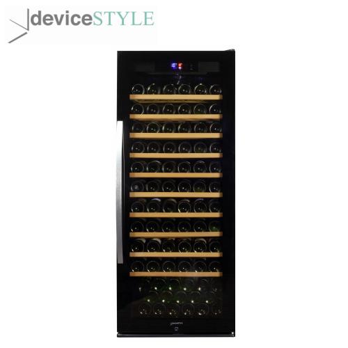 デバイスタイル deviceSTYLEコンプレッサー式ワインセラー 127本収納用WF-C127W大容量 スリムタイプブラック【送料無料】