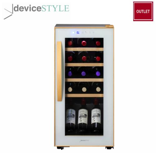 【アウトレット】デバイスタイル deviceSTYLEコンプレッサー式ワインセラー 15収納用CF-C15W-W家庭用 薄型 コンパクトタイプホワイト【送料無料】