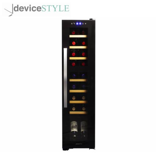 デバイスタイル deviceSTYLEコンプレッサー式ツインルームワインセラー 18収納用DCF-C18W家庭用 送料無料 絶品 薄型 スリムトタイプブラック 大人気!