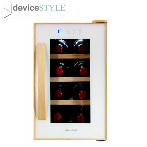 デバイスタイル deviceSTYLEペルチェ式ワインセラー 8本収納用CE-8W-W家庭用小型 コンパクトタイプホワイト【送料無料】