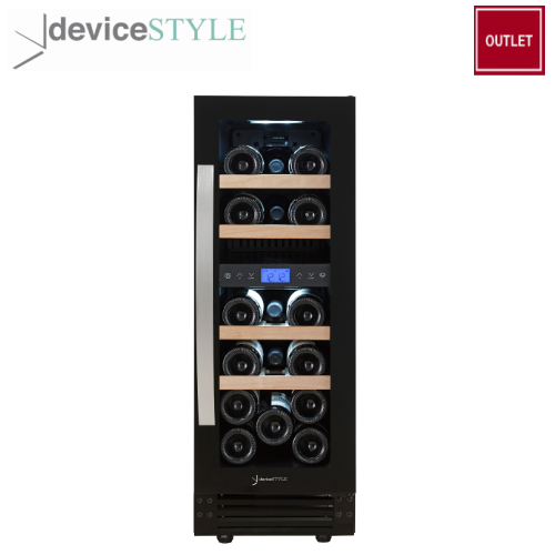 新着 アウトレット デバイスタイル deviceSTYLEコンプレッサー式ツインルームワインセラー 17本収納用DWF-C17W上下2温度帯家庭用 卓出 小型 送料無料 コンパクトタイプブラック