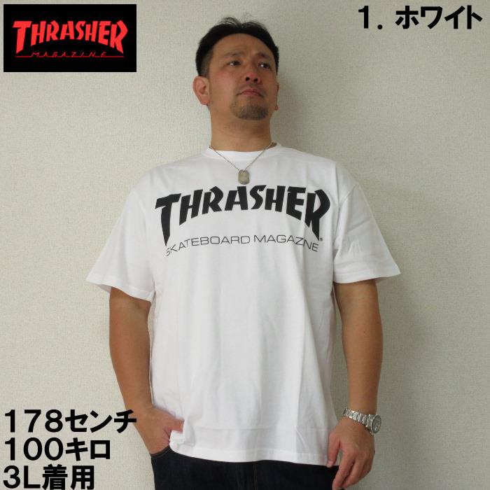 (12/31まで特別送料)大きいサイズ メンズ THRASHER-半袖Tシャツ(メーカー取寄)3L 4L 5L 6L スラッシャー 流行り 流行 雑誌掲載