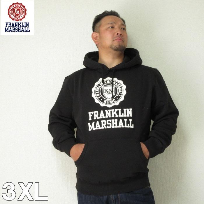 (本州送料無料)大きいサイズ メンズ FRANKLIN&MARSHALL(フランクリンアンドマーシャル)エンブレム HOOD 3XL パーカー