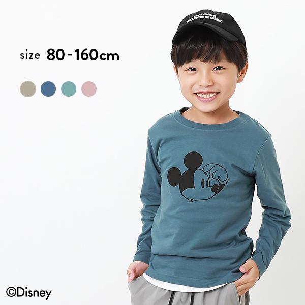 人気 ディズニー ミッキー柄長袖Tシャツ 海外限定 子供服 キッズ ベビー 男の子 女の子 ロンT トップス 長袖Tシャツ 長袖