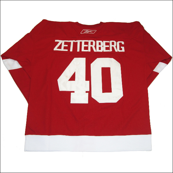 DETROIT RED WINGS (デトロイトレッドウィング) replica  アイスホッケーシャツ #40【ZETTERBERG】アイスホッケー ゲームシャツ 大きいサイズメンズ メンズ大きいTシャツ ヒップホップ衣装 ダンス 衣装 ジャージ