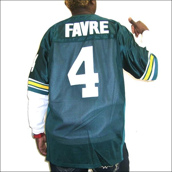 【あす楽】GREEN BAY PACKERS replica メッシュ フットボールシャツ/ #4【BRETT FAVRE】大きいサイズ メンズ 小さいサイズ メンズ大きいサイズ ゲームシャツ ダンス 衣装 ダンス衣装 hiphop ヒップホップ メンズTシャツ メッシュ 半袖