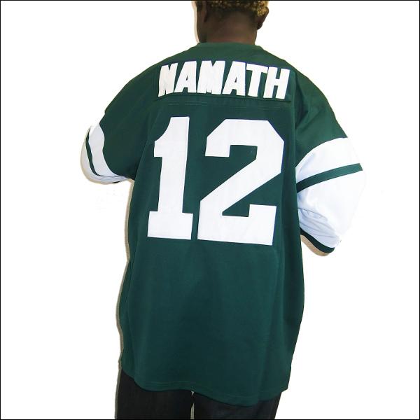 【あす楽】【送料無料】NEW YORK JETS(ニューヨークジェット) replica  フットボールシャツ   #12【JOE NAMATH】大きいサイズ メンズ 小さいサイズ メンズ大きいサイズ ゲームシャツ ダンス 衣装 ダンス衣装 hiphop ヒップホップ