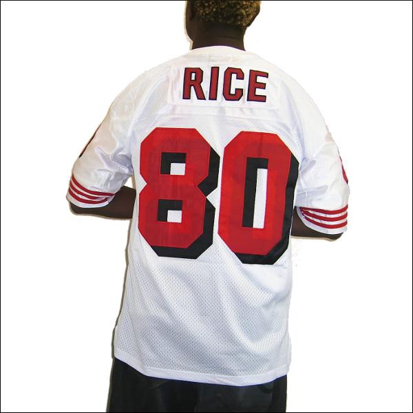 SAN FRANCISCO 49ERS replica フットボールシャツ #80【JERRY RICE】メンズ 大きいサイズ 小さいサイズ メンズ大きいサイズ ゲームシャツ ダンス 衣装 ダンス衣装 hiphop ヒップホップ 大きいサイズメンズ 大きいサイズTシャツ メンズTシャツ メッシュ 半袖