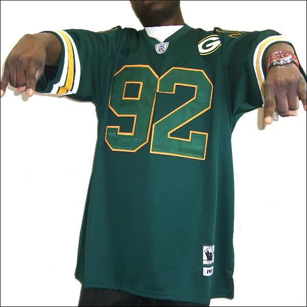 GREEN BAY PACKERS(グリーンベイーパッカース) replica  フットボールシャツ #92【WHITE】フットボールジャージ ゲームシャツ 大きいサイズメンズ メンズ大きいTシャツ ヒップホップ衣装 ダンス 衣装 ジャージ