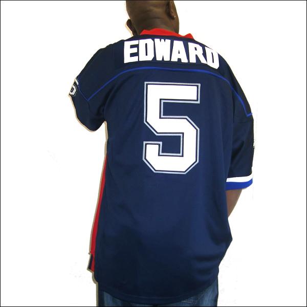 【あす楽】【送料無料】BUFFALO BILLS(バファロビルス) replica  フットボールシャツ #5【TRENT EDWARDS】フットボールジャージ ゲームシャツ 大きいサイズ メンズ メンズ大きいTシャツ ヒップホップ衣装 ダンス 衣装 ジャージ