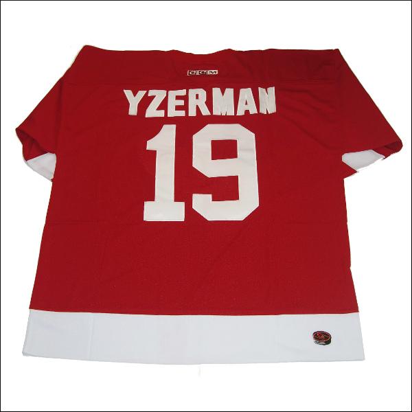 DETROIT RED WINGS (デトロイトレッドウィング) replica  アイスホッケーシャツ #19【YZERMAN】アイスホッケー ゲームシャツ 大きいサイズメンズ メンズ大きいTシャツ ヒップホップ衣装 ダンス 衣装 ジャージ
