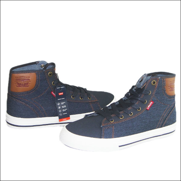 Levi's JACKSON HI DENIM [NAVY]men's sneaker Levis men higher frequency  elimination shoes, shoes sneakers [517,911-09 U] 26-31cm Converse big shoes  ...