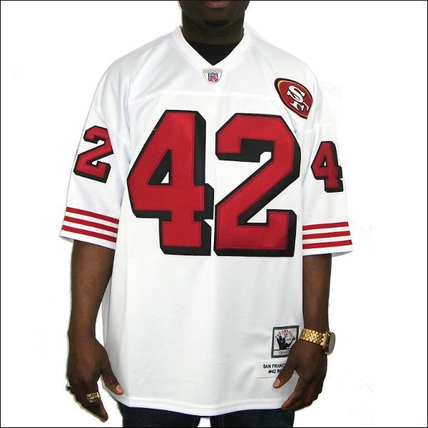 【あす楽】【送料無料】【全2色】SF 49ers replica  フットボールシャツ/ #42【RONNIE LOTT】大きいサイズ メンズ 小さいサイズ メンズ大きいサイズ ゲームシャツ ダンス 衣装 ダンス衣装 hiphop ヒップホップ