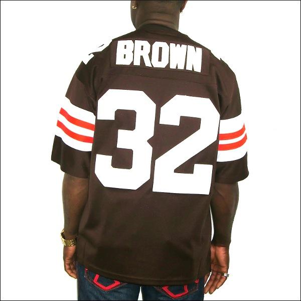 【あす楽】【送料無料】【全2色】CLEVELAND BROWNS replica  フットボールシャツ/ #32【JIM BROWN】大きいサイズ メンズ 小さいサイズ メンズ大きいサイズ ゲームシャツ ダンス 衣装 ダンス衣装 hiphop ヒップホップ