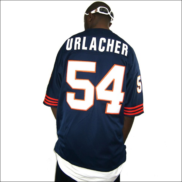 new concept ca237 b951e CHICAGO BEARS replica football shirt / #54 big size men's small size men's  big size game shirt dance bureau clothes hiphop hip-hop