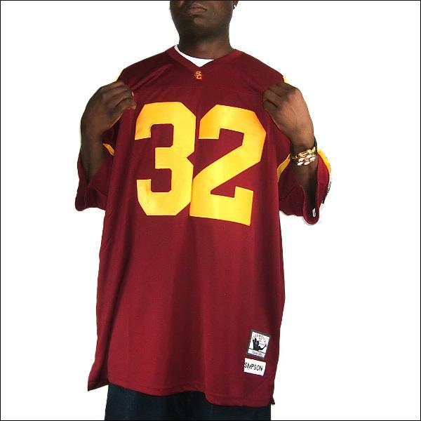 【あす楽】【送料無料】[全2色]USC TROJANS replica  フットボールシャツ/ #32【O.J SIMPSON】大きいサイズ メンズ 小さいサイズ メンズ大きいサイズ ゲームシャツ ダンス 衣装 ダンス衣装 hiphop ヒップホップ