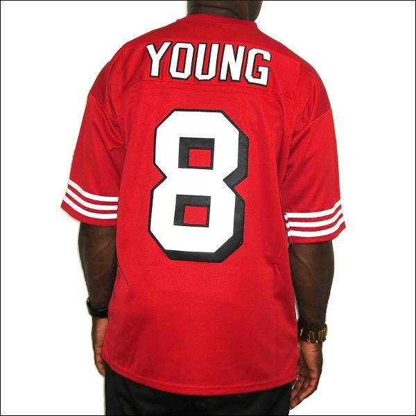 【あす楽】【送料無料】【全2色】SAN FRANCISCO 49ERS replica  フットボールシャツ/ #8【STEVE YOUNG】大きいサイズ メンズ 小さいサイズ メンズ大きいサイズ ゲームシャツ ダンス 衣装 ダンス衣装 hiphop ヒップホップ