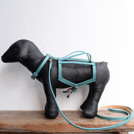 【BABA PARIS】 ババ パリ HELENE harness & leash エメラルドブルー ハーネス