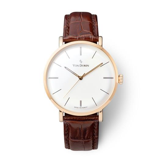 【VON DOREN】ヴァンドーレン Aksla Mark II Frost Whiteゴールド 時計
