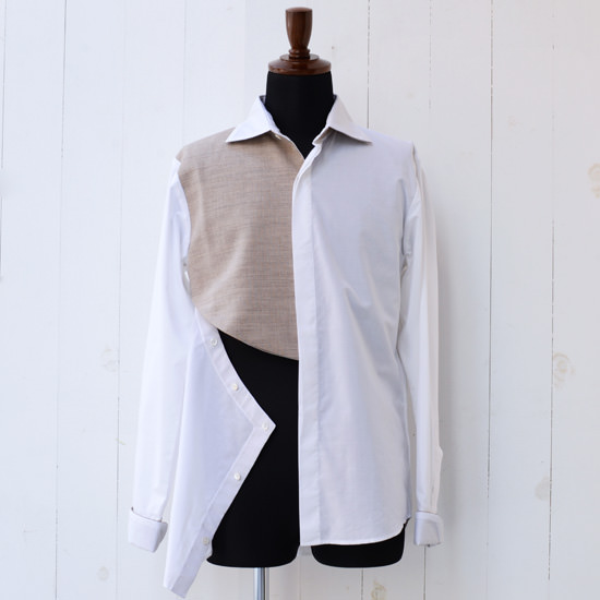 【wegenk】×【Nobuyuki Matsui 】 ウィジェンク×ノブユキマツイ 毛芯シャツ