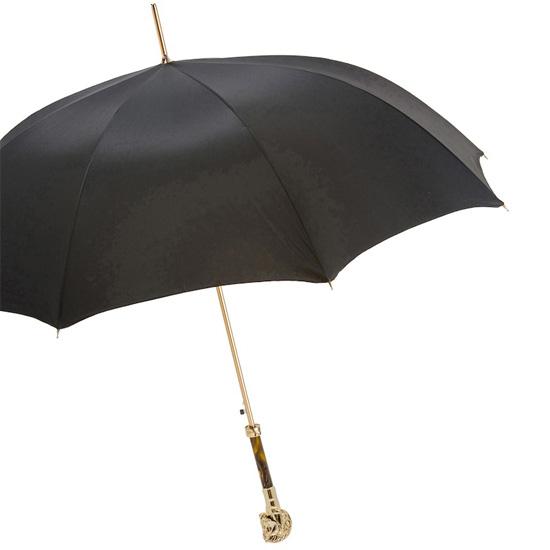 【Pasotti】パソッティ ゴールデンホースアンブレラ ブラック 傘