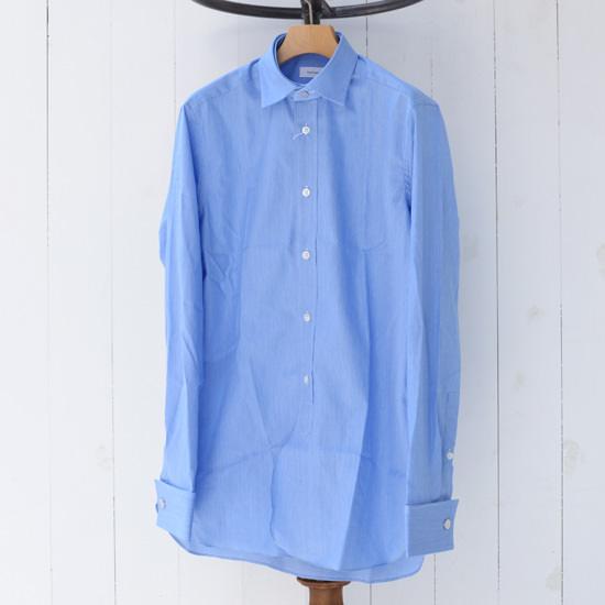 【KAZUKI NAGAYAMA】カズキナガヤマ オフィサーシャツ ブルー 青