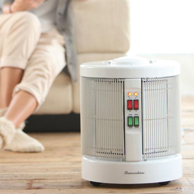暖話室 1000型H ホワイト 遠赤外線パネルヒーター 全方位型 暖房器具