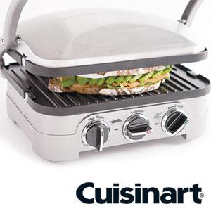 【大型商品のためラッピング不可】Cuisinart クイジナート マルチグルメプレート GR-4NJ|◯