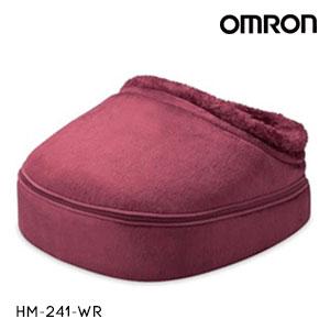 OMRON オムロン フットマッサージャー ワインレッド HM-241-WR ヒーター付き 回転するもみ玉が足裏をマッサージ|◯