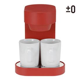 ±0 コーヒーメーカー2カップ レッド XKC-V110-R Coffee Maker 2-Cup|