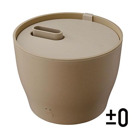 ±0 スチーム式加湿器 Z210 ブラウン XQK-Z210(T) 和室6畳まで 洋室10畳まで 容量2.0L|