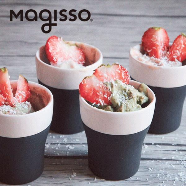 magisso COOL-ID ショットグラス 4個セット 70628 ホワイトライン クーリングセラミックス 食器 おしゃれ|