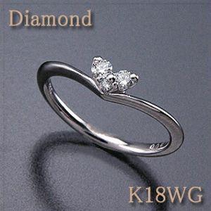 ダイヤモンド ピンキーリング 0.08ct K18WG(ホワイトゴールド) 小さなハートがとっても可愛い! K18PG(ピンクゴールド)作製可能 【送料無料】 10P03Dec16