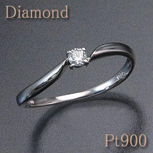 ダイヤモンドウェーブリングゆるやかなウェーブが特徴的ダイヤモンド0.07ctPt900(プラチナ)ウェーブ/シンプル【送料無料】 10P03Dec16
